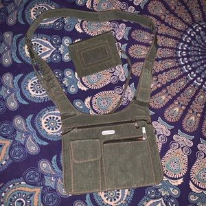 Army Green Travel Safe Purse